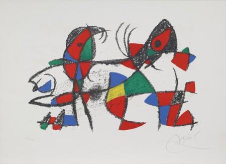 """JOAN MIRO' - """"Lithographe II""""  tavola X"""