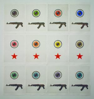 Giacomo Miracola, Target, 2011 Incisione all'acquaforte e all'acquatinta (310 x 200 cm.)