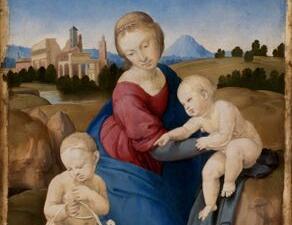 Raffaello Sanzio(Urbino 1483 –Roma 1520)Madonna col Bambino e san Giovannino (Madonna Esterhazy)
