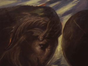 Omar Galliani, Terreo vello d'Oriente, 1986, olio su tela, cm