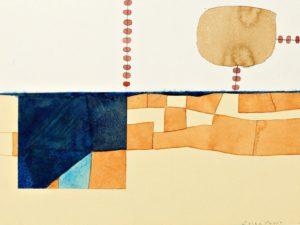Enrico Della Torre, Gran Canaria, 2005, acquarello e collage su carta applicata su tavola, cm. 22,5x31,2, foto Fabio Fantini (Copia)