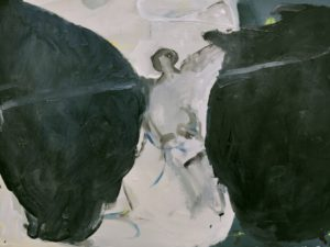 Franz Baumgartner, Rupe, 8, 2016, olio su carta, cm. 65x80