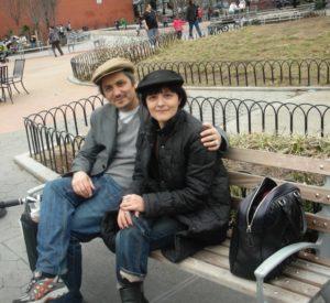 Teresa Macrì con Sislej Xhafa.new york. jpg